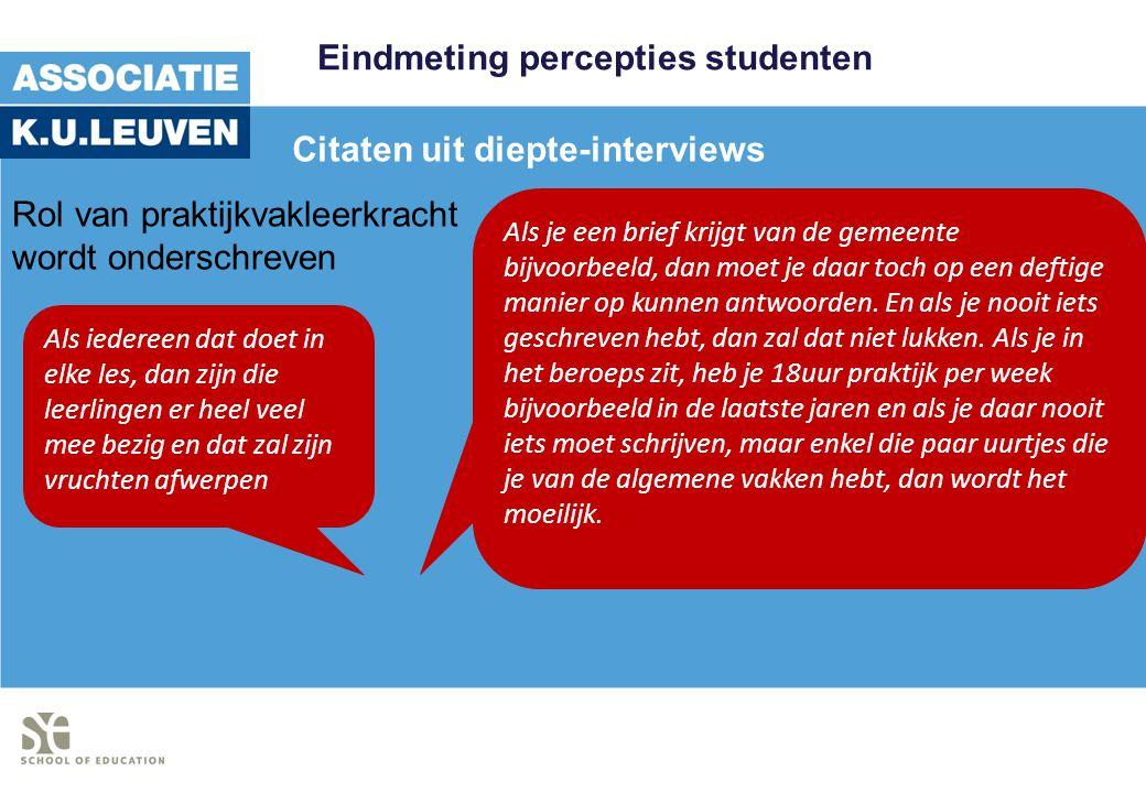 Eindmeting percepties studenten