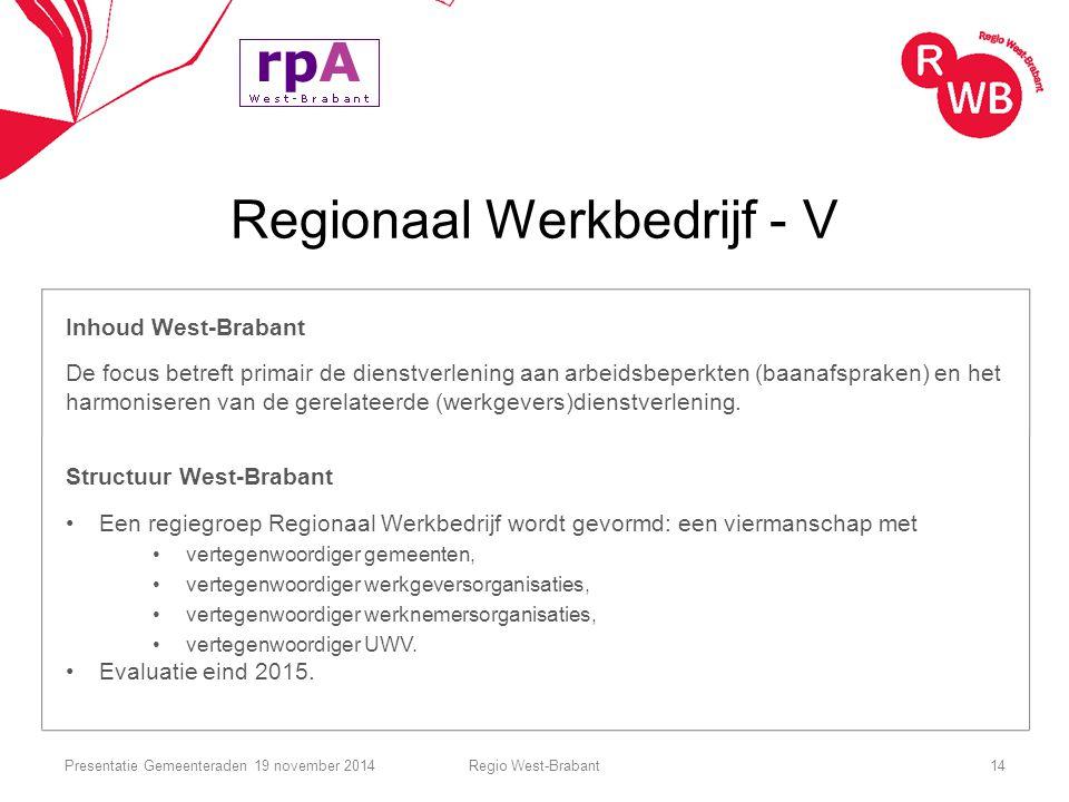 Regionaal Werkbedrijf - V