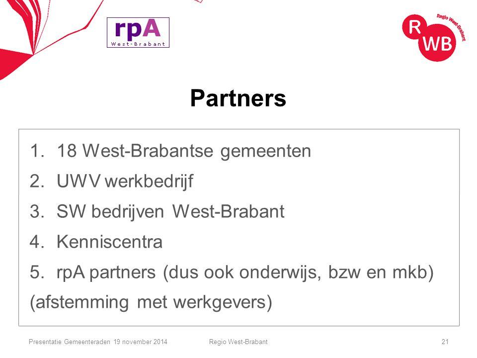 Partners 18 West-Brabantse gemeenten UWV werkbedrijf