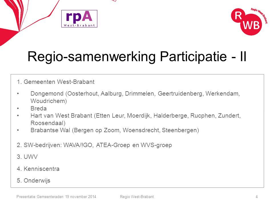 Regio-samenwerking Participatie - II