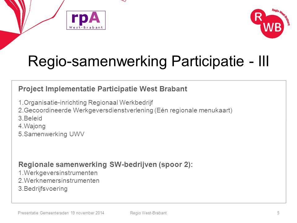 Regio-samenwerking Participatie - III