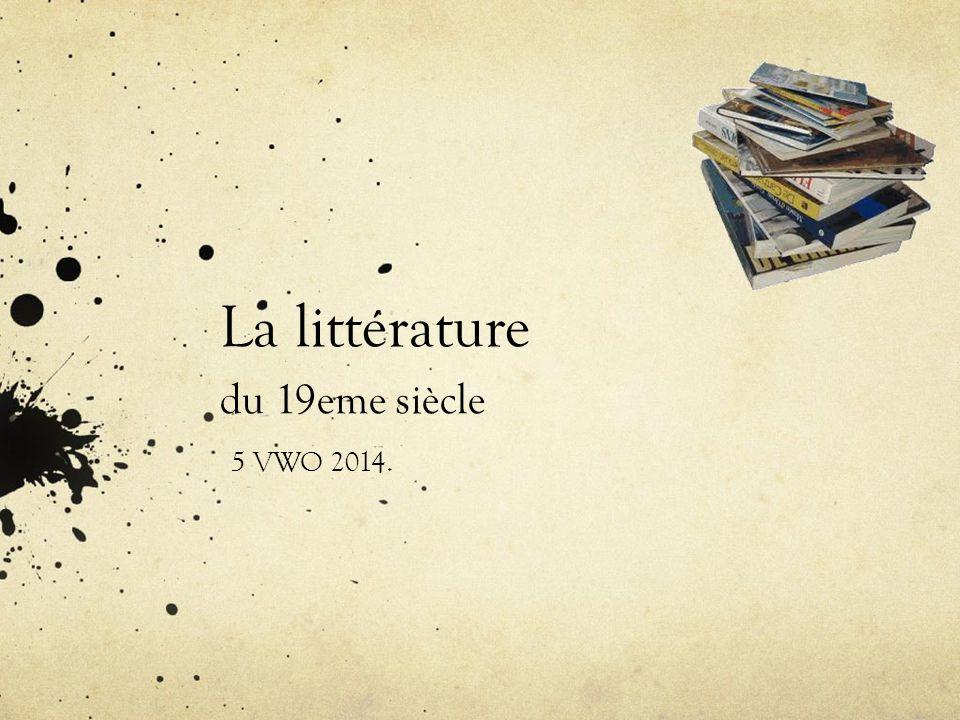 La littérature du 19eme siècle