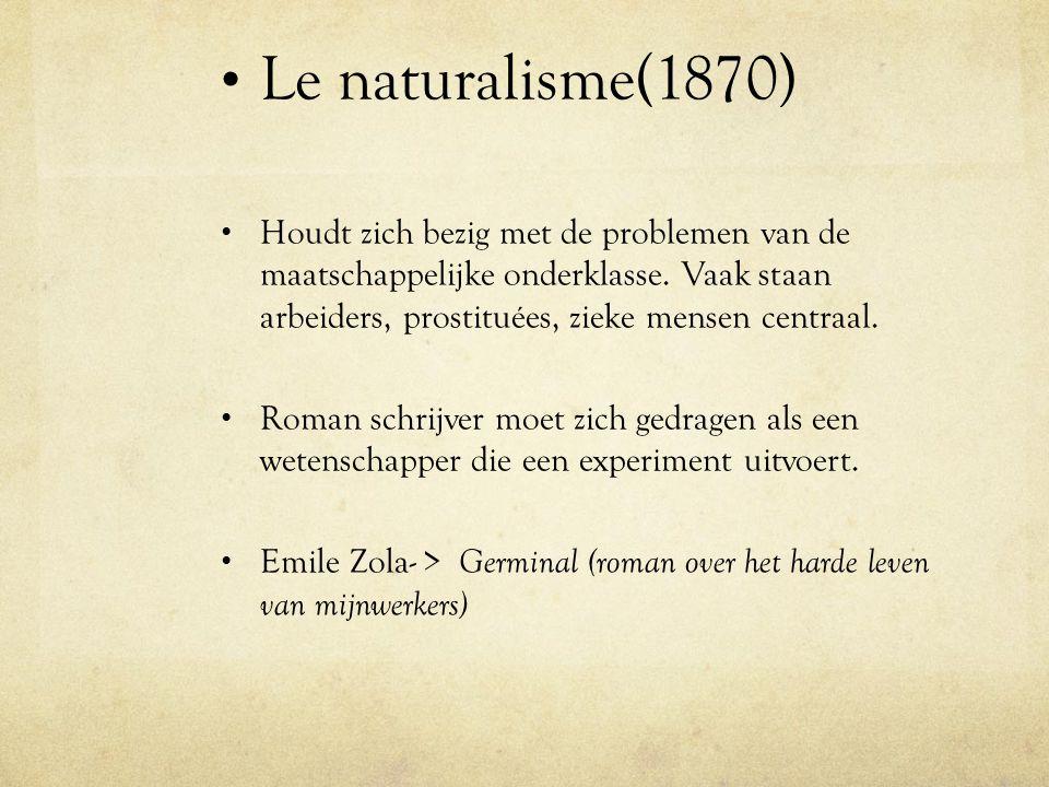 Le naturalisme(1870)