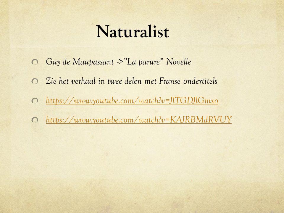 Naturalist Guy de Maupassant -> La parure Novelle