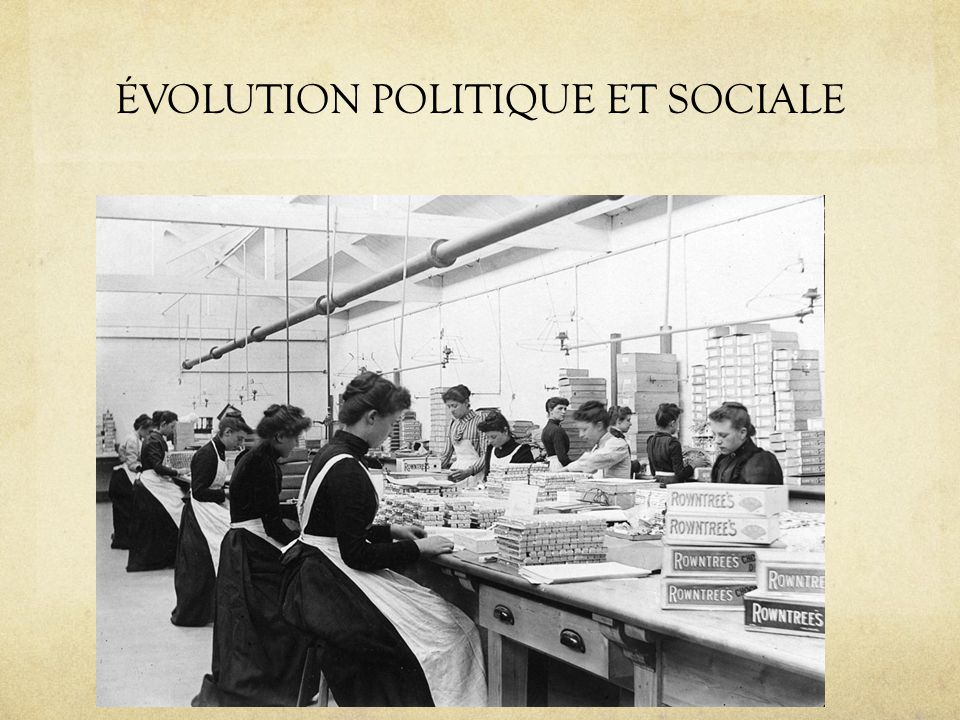ÉVOLUTION POLITIQUE ET SOCIALE