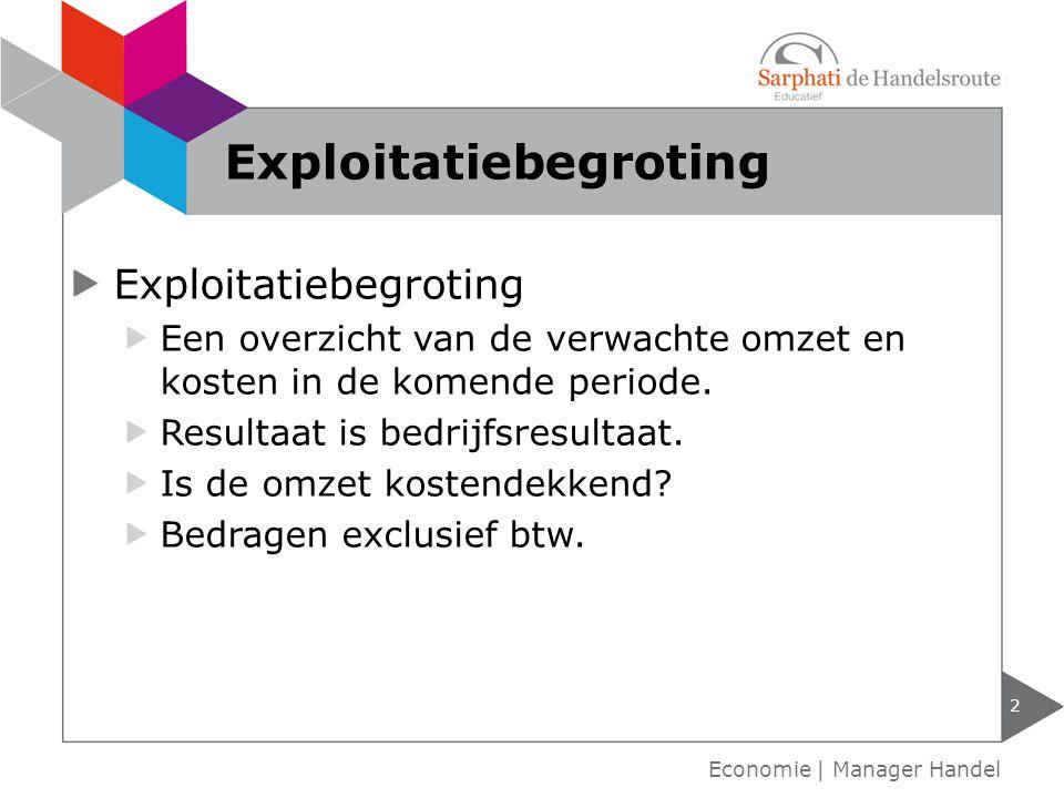 Exploitatiebegroting