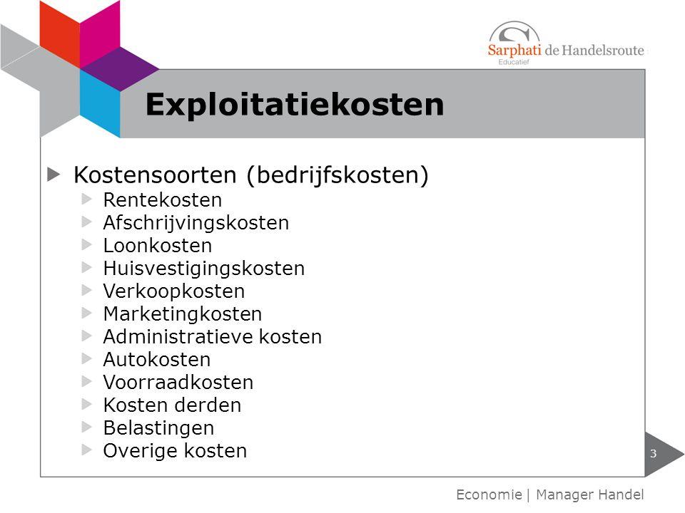 Exploitatiekosten Kostensoorten (bedrijfskosten) Rentekosten