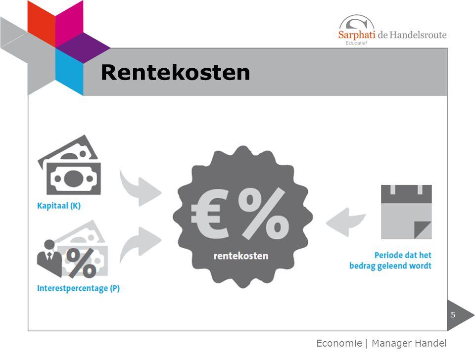 Rentekosten Economie | Manager Handel