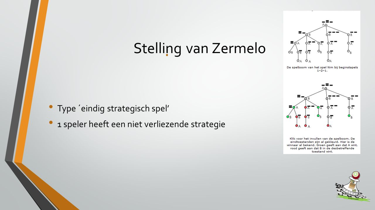 Stelling van Zermelo Type ´eindig strategisch spel'