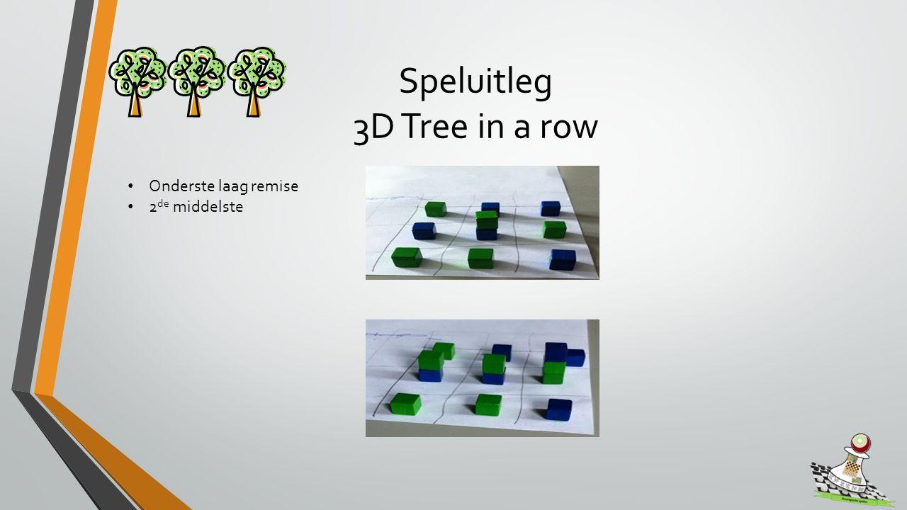 Speluitleg 3D Tree in a row