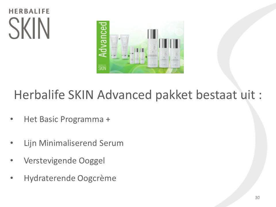 Herbalife SKIN Advanced pakket bestaat uit :
