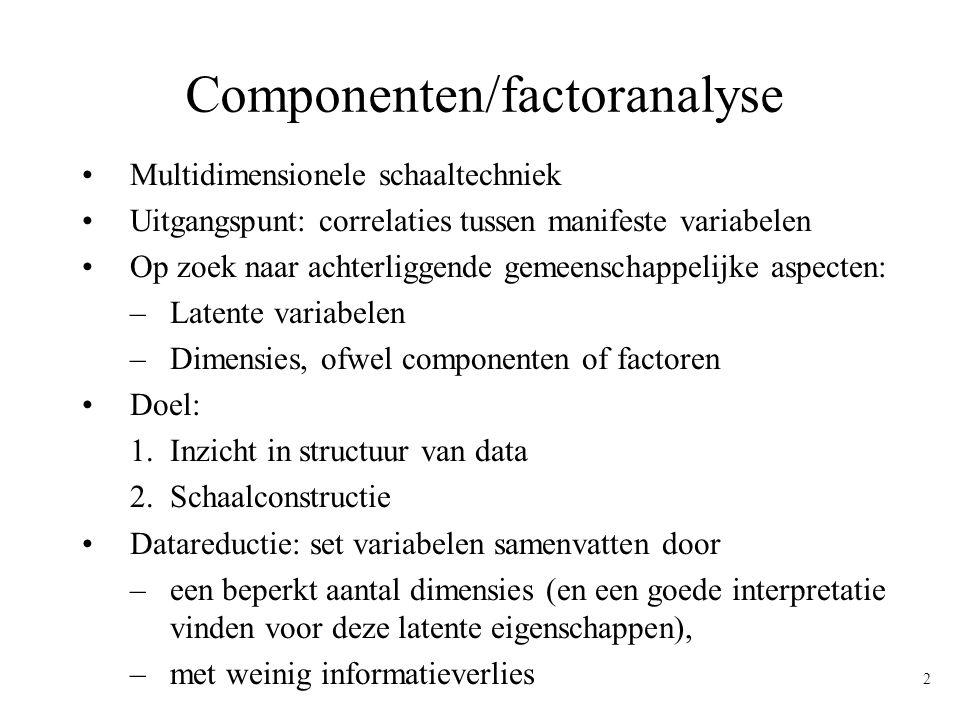 Componenten/factoranalyse