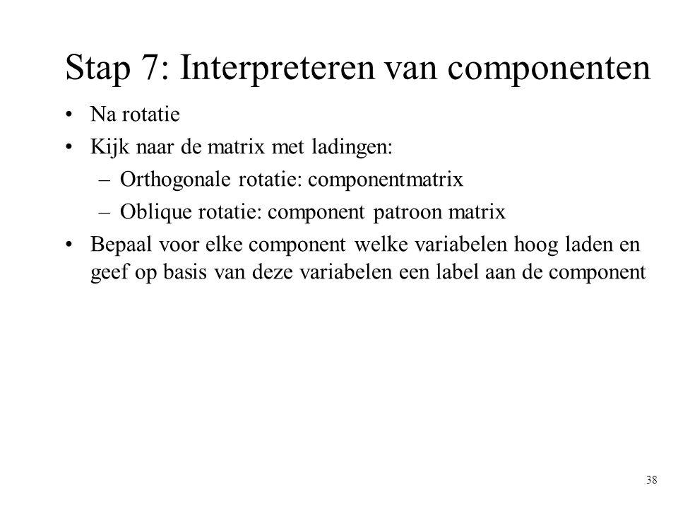 Stap 7: Interpreteren van componenten