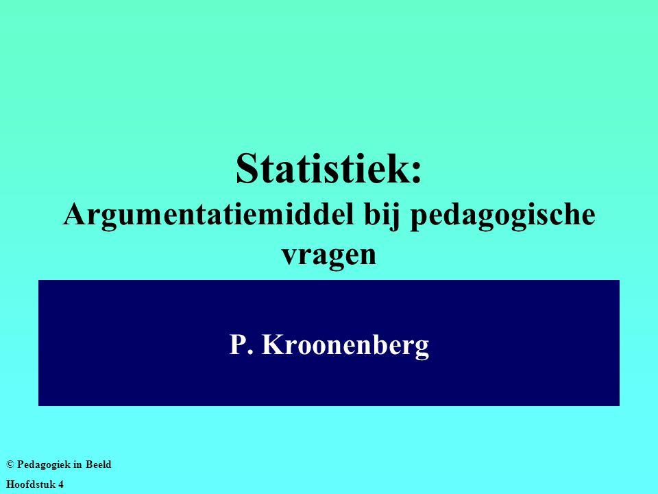 Statistiek: Argumentatiemiddel bij pedagogische vragen