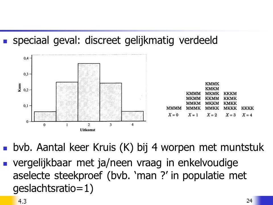 speciaal geval: discreet gelijkmatig verdeeld