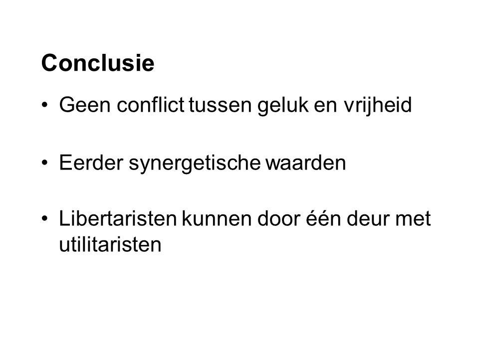 Conclusie Geen conflict tussen geluk en vrijheid