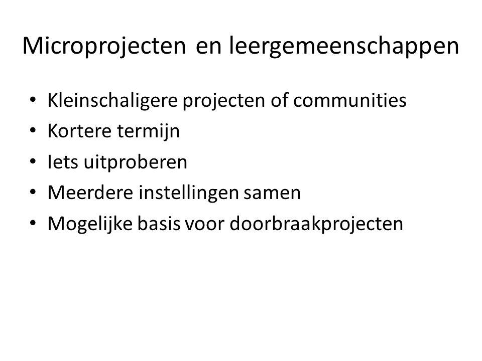 Microprojecten en leergemeenschappen
