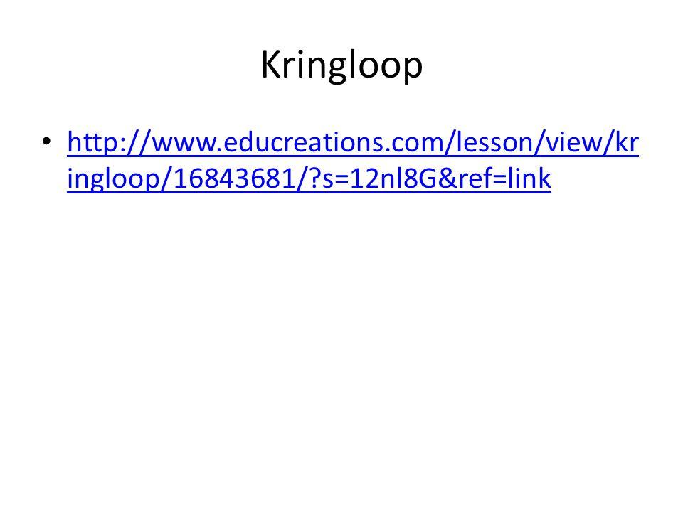 Kringloop http://www.educreations.com/lesson/view/kringloop/16843681/ s=12nl8G&ref=link