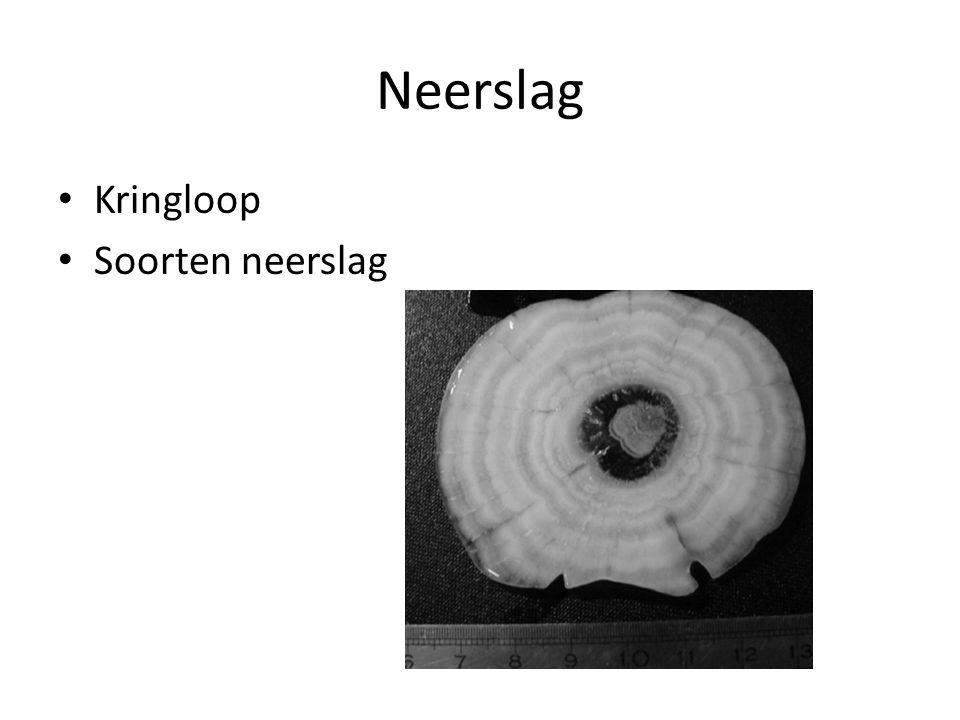 Neerslag Kringloop Soorten neerslag