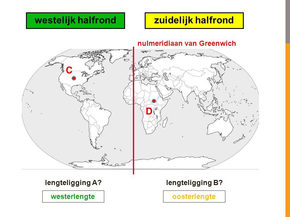 westelijk halfrond zuidelijk halfrond