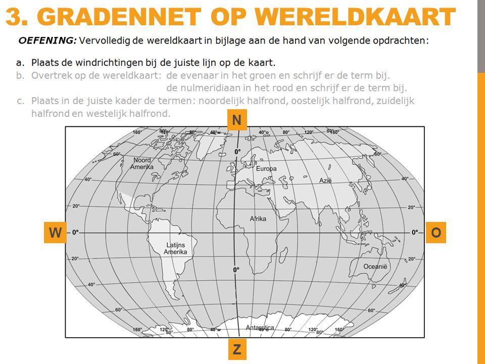 3. Gradennet Op wereldkaart