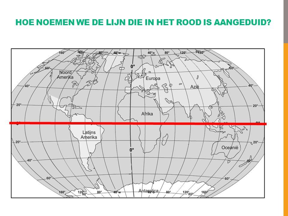 Hoe noemen we de lijn die in het rood is aangeduid