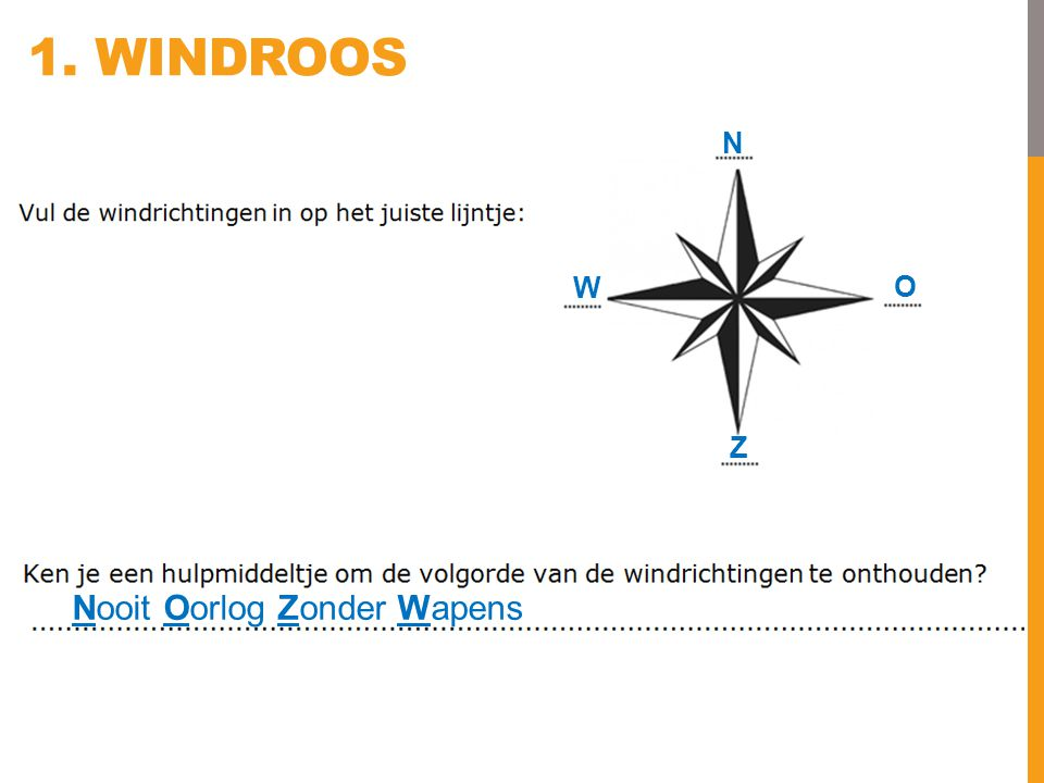 1. Windroos N W O Z Nooit Oorlog Zonder Wapens