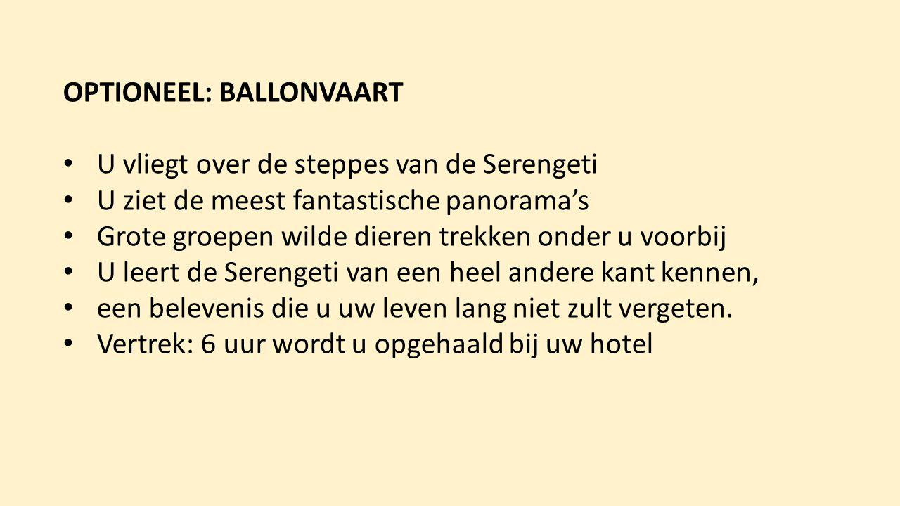 OPTIONEEL: BALLONVAART