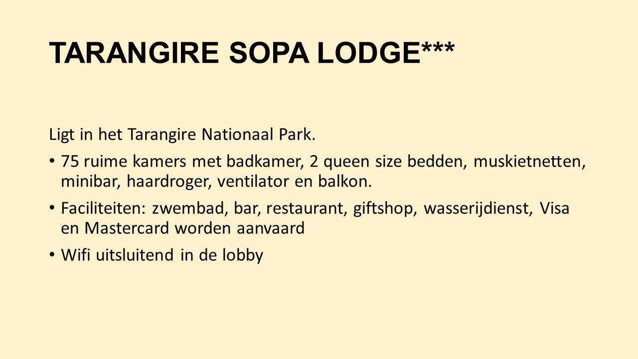 TARANGIRE SOPA LODGE***