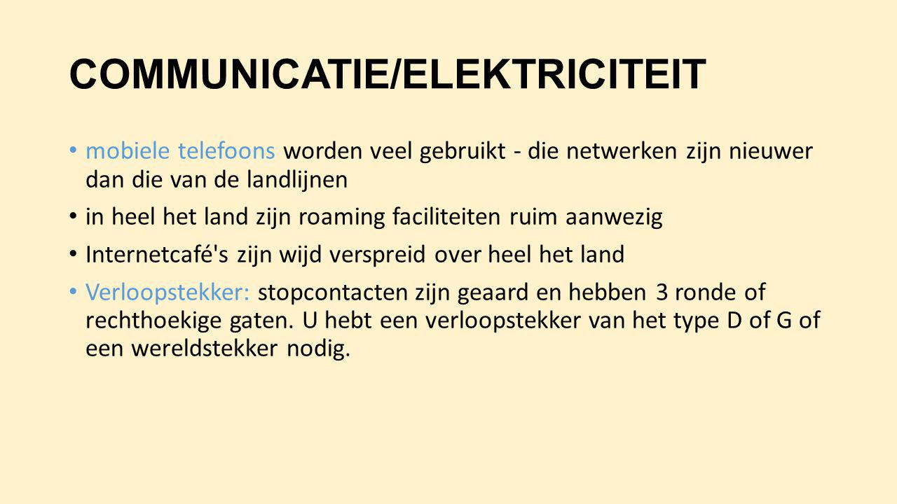 COMMUNICATIE/ELEKTRICITEIT