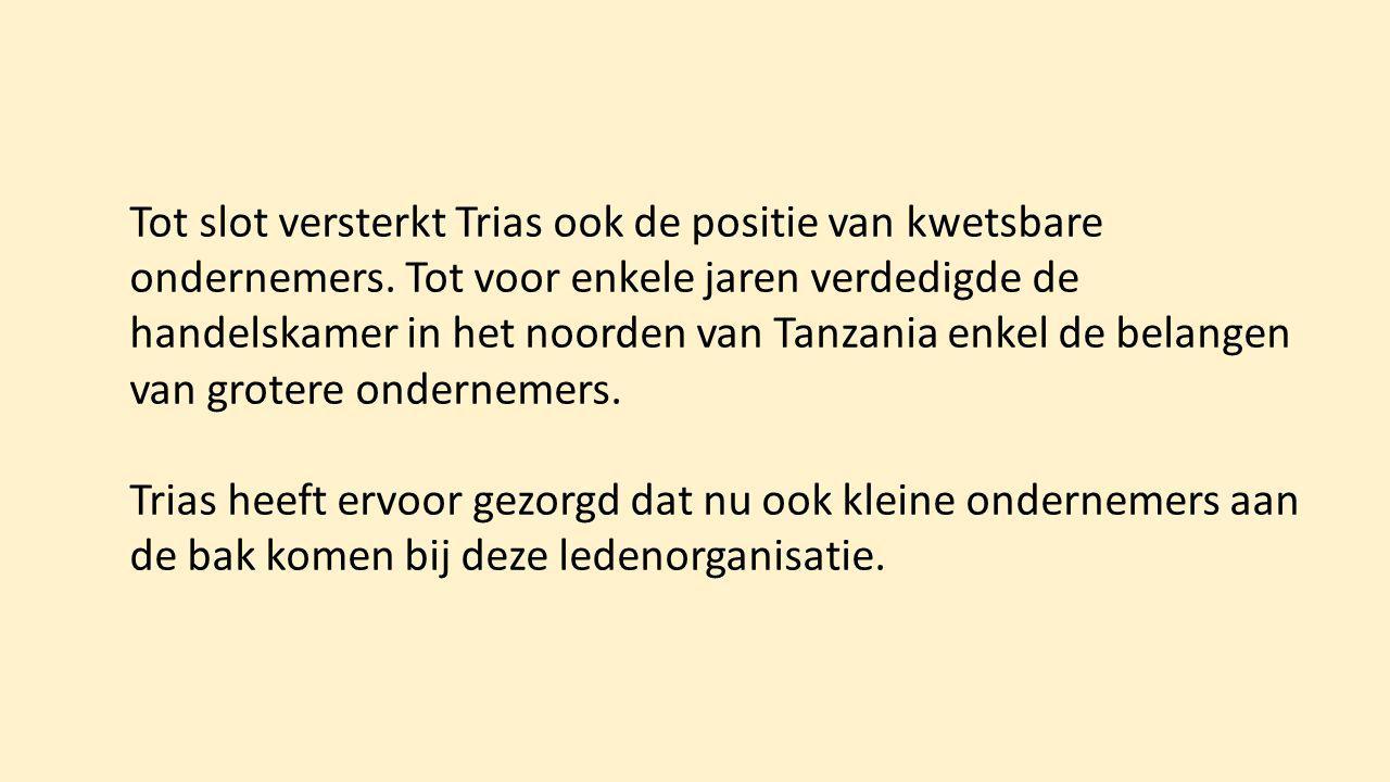 Tot slot versterkt Trias ook de positie van kwetsbare ondernemers