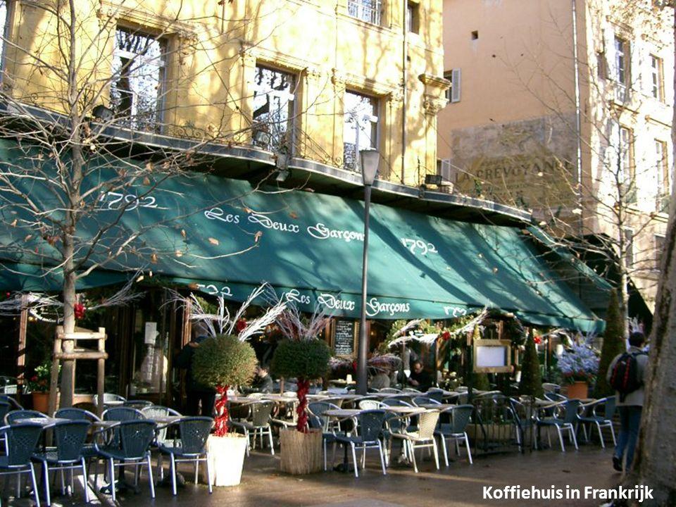 Koffiehuis in Frankrijk