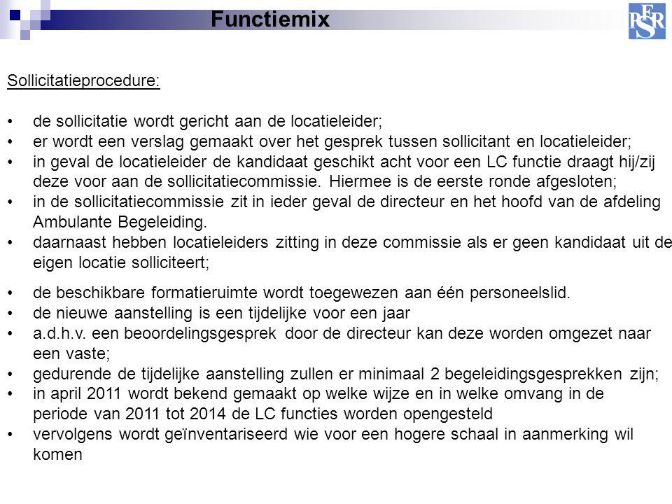 Functiemix Sollicitatieprocedure: