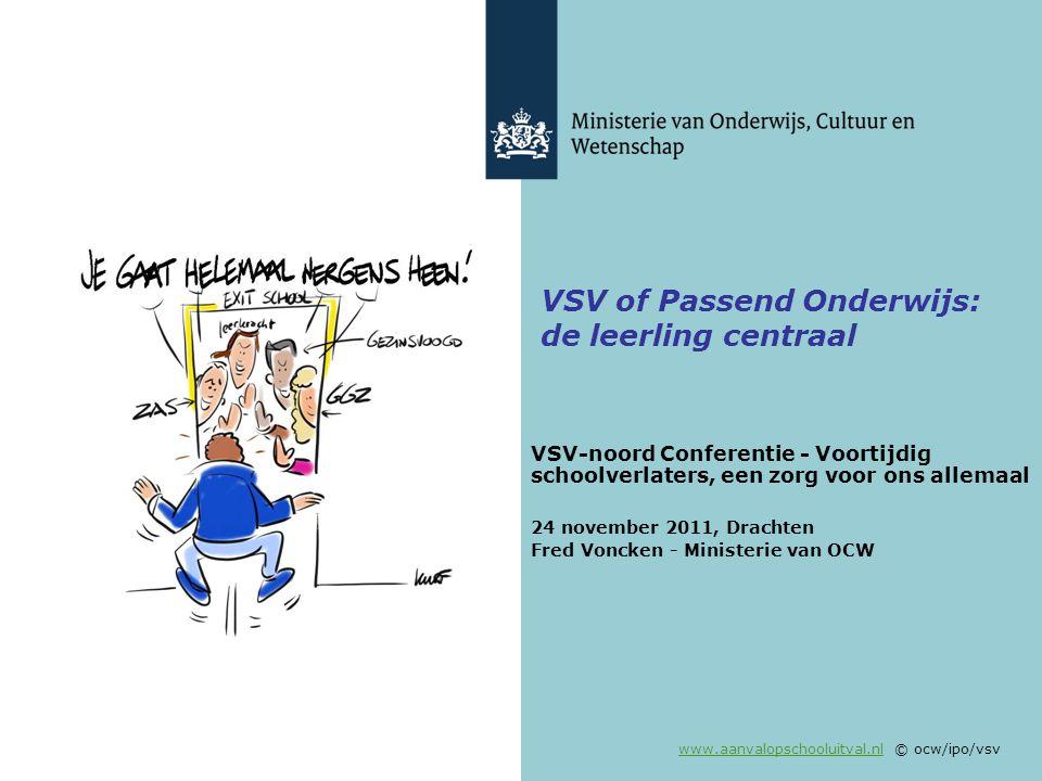 VSV of Passend Onderwijs: de leerling centraal