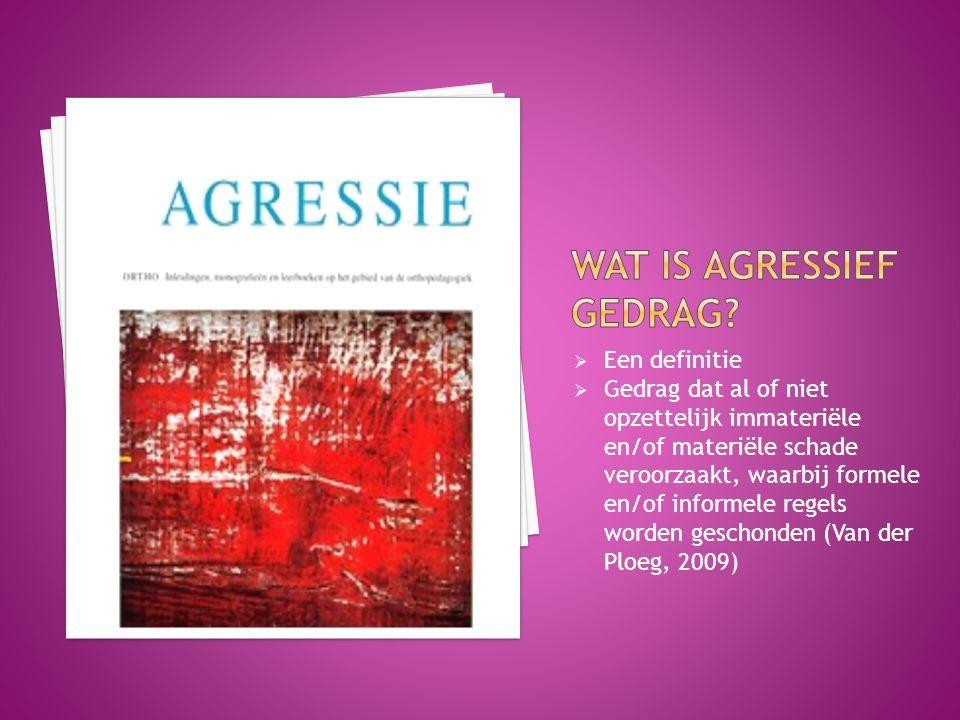 Wat is agressief gedrag