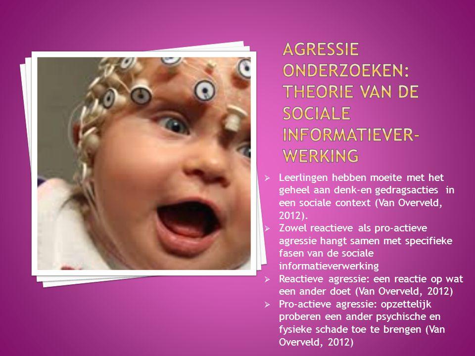 Agressie onderzoeken: Theorie van de sociale informatiever-werking