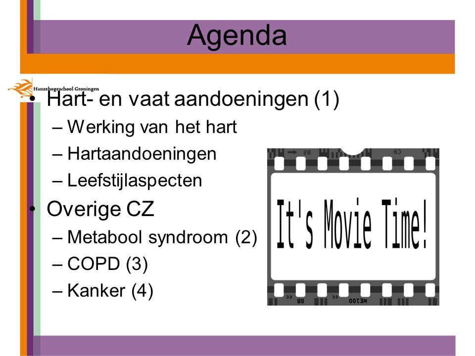 Agenda Hart- en vaat aandoeningen (1) Overige CZ Werking van het hart