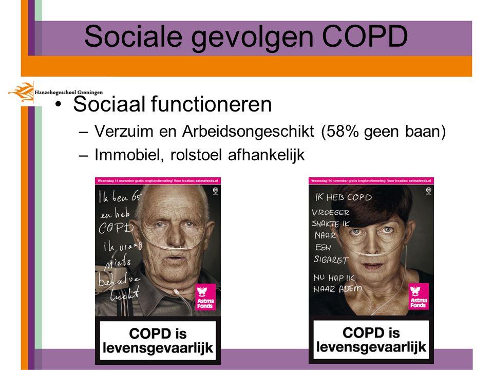 Sociale gevolgen COPD Sociaal functioneren