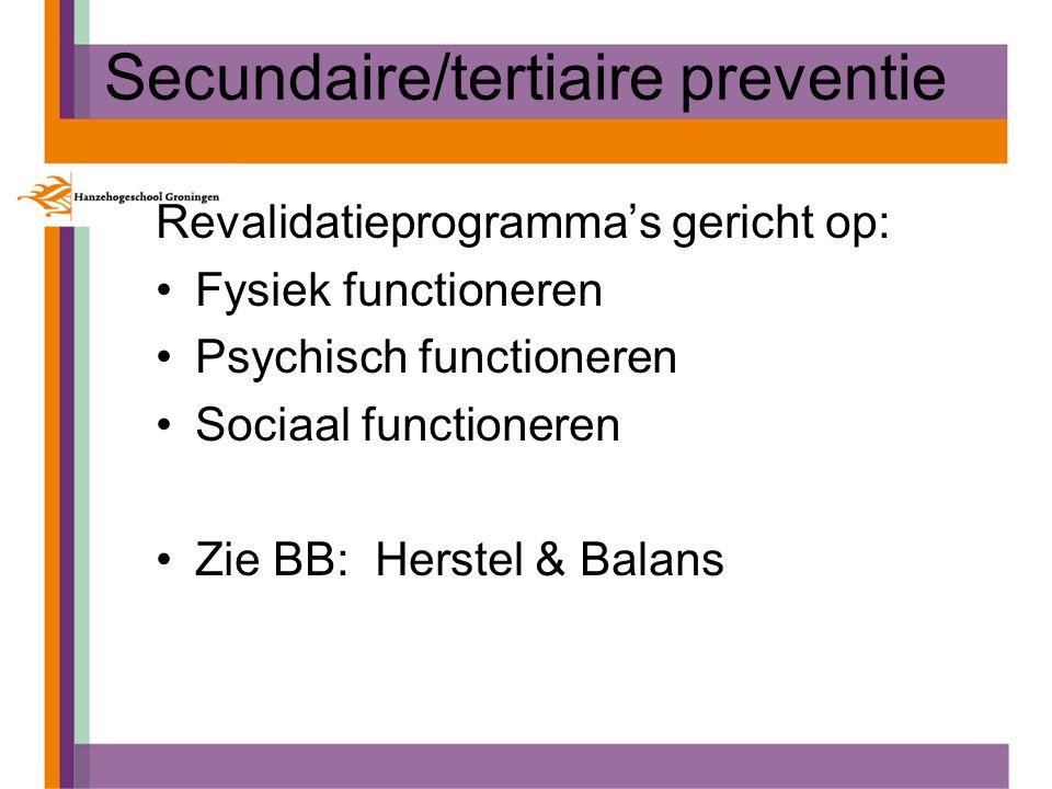 Secundaire/tertiaire preventie