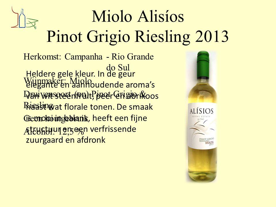 Miolo Alisíos Pinot Grigio Riesling 2013