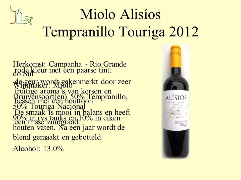 Miolo Alisíos Tempranillo Touriga 2012
