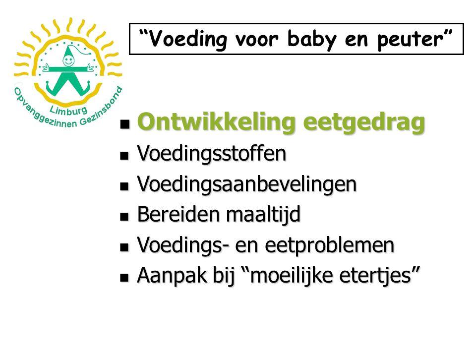 Voeding voor baby en peuter