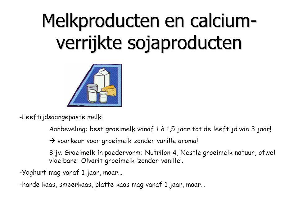 Melkproducten en calcium-verrijkte sojaproducten