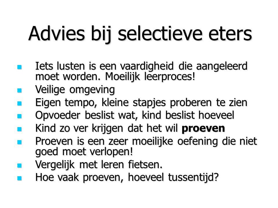 Advies bij selectieve eters