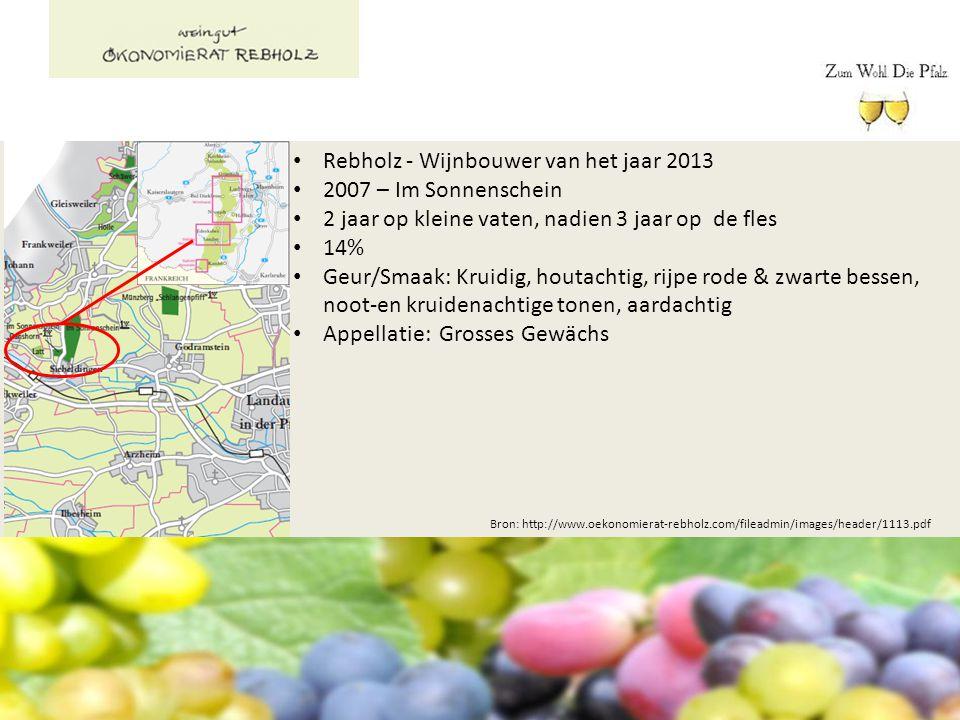Rebholz - Wijnbouwer van het jaar 2013 2007 – Im Sonnenschein