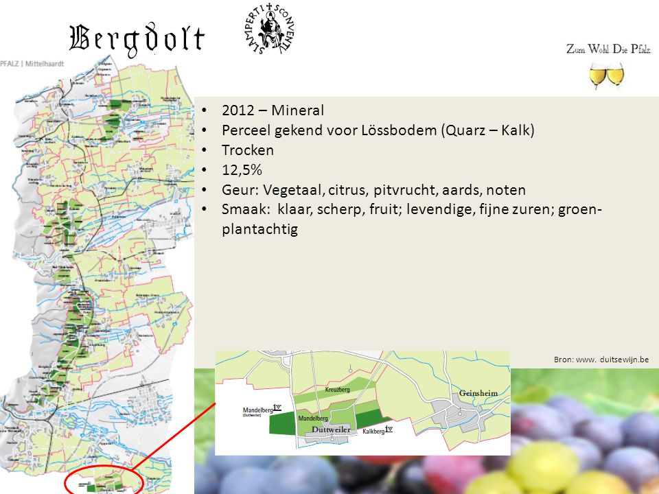 Perceel gekend voor Lössbodem (Quarz – Kalk) Trocken 12,5%