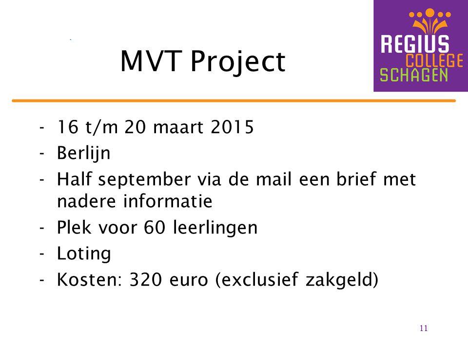 MVT Project 16 t/m 20 maart 2015 Berlijn