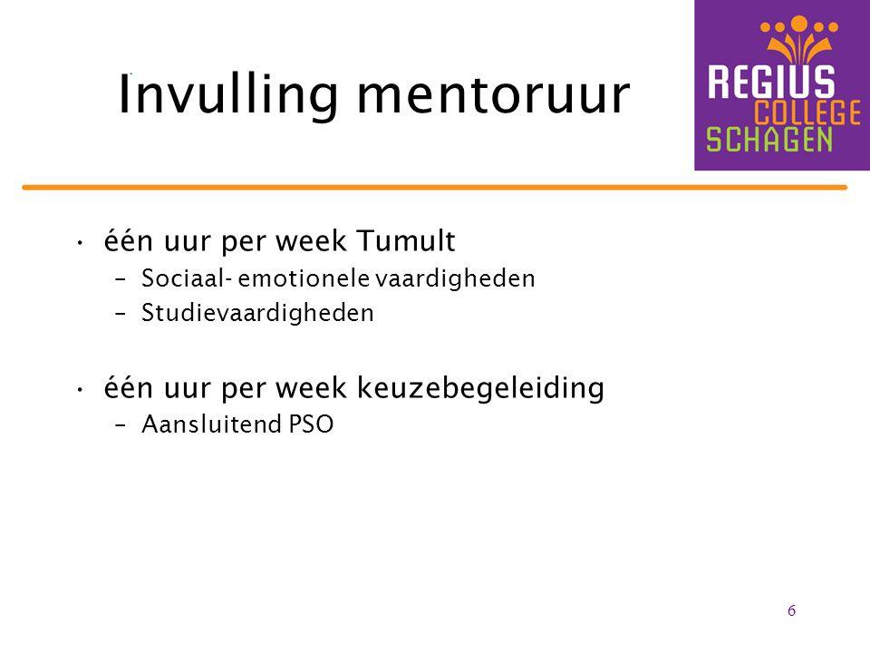Invulling mentoruur één uur per week Tumult
