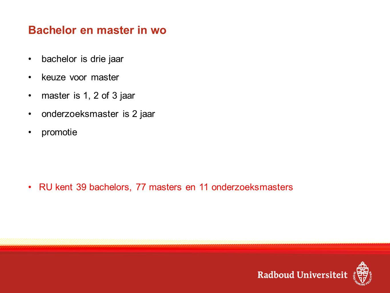Bachelor en master in wo
