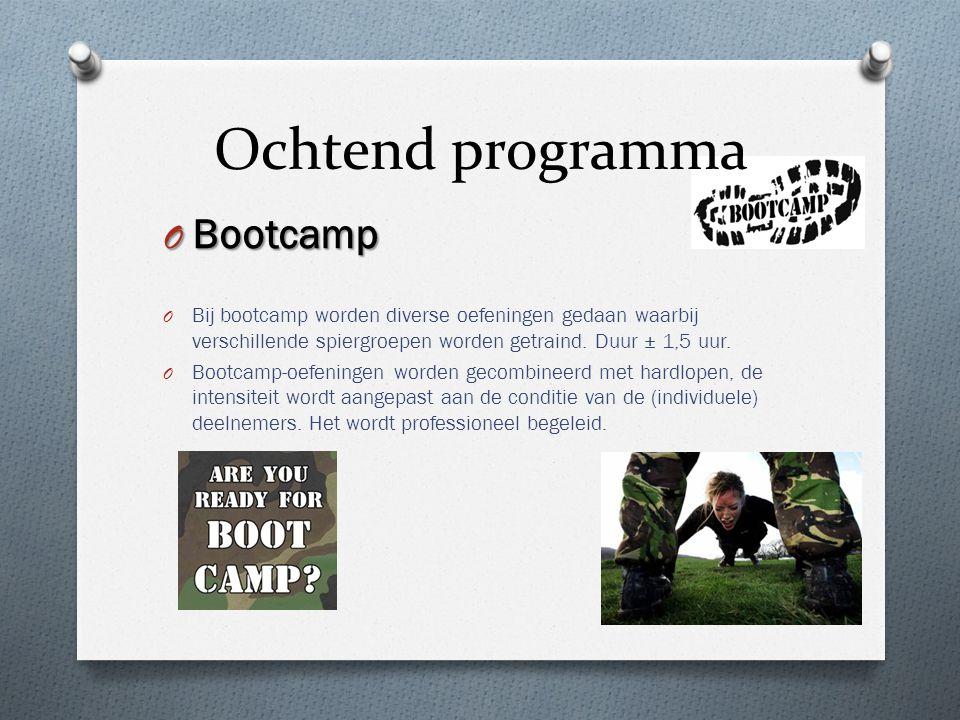 Ochtend programma Bootcamp
